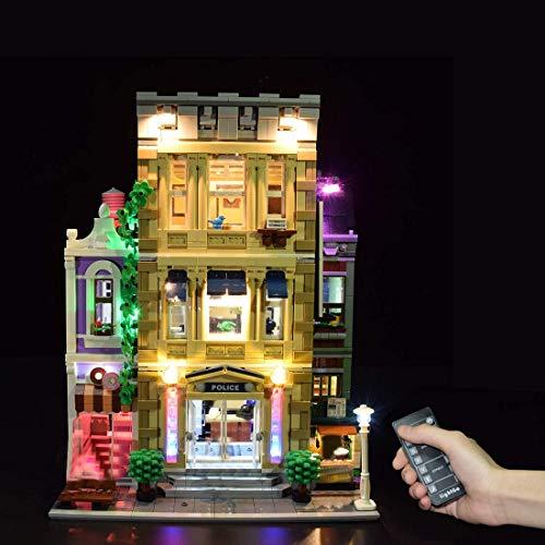 Juego de iluminación LED alimentada por USB para la estación de policía Lego 10278, sin kit Lego (Edición Fernbedienung)