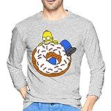 Homer Simpson Bedruckte Herren Langarm T-Shirts Ca