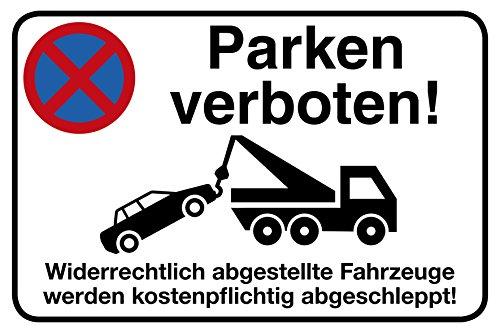Parken verboten Schild | 30 x 20 cm |
