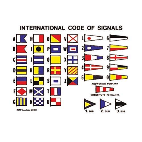Nuova Rade 16 x 12 cm Aufkleber Flaggenalphabet Internationaler Signalcode