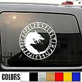 SUPERSTICKI Wolf Wölfe Odin Wikinger Viking 20 cm Aufkleber Autoaufkleber,Wandtattoo Profi-Qualität für Lack,Scheibe,etc.Waschanlagenfest
