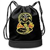 Mochila con cordón Cobra Kai Drawstring Backpack Rucksack Shoulder Bags Training Sack For...