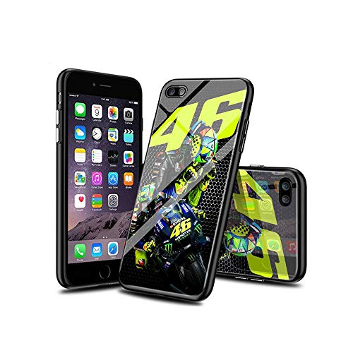 WuSzlON Compatible con iPhone 8 Plus Funda, iPhone 7 Plus Funda, Cristal Templado Delgado, Resistente a los arañazos, Suave Borde de TPU anticaídas para iPhone 8 Plus/iPhone 7 Plus D 003