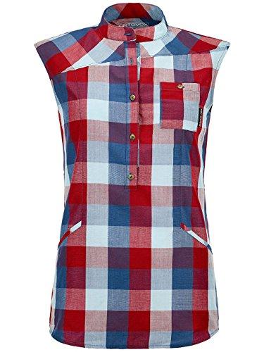 Ortovox Damen Hemd kurz Cortina Tunika Sleeveless Shirt, X-Small, dark blood