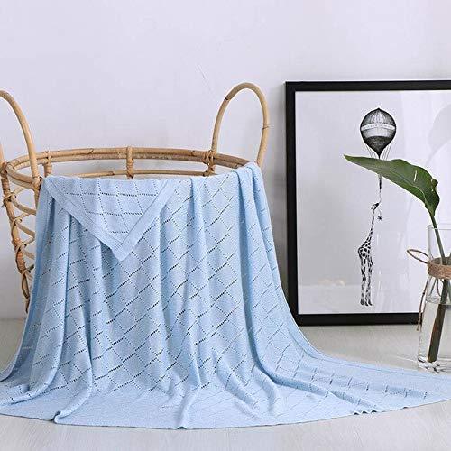 RAQ Zomer Bamboe Fiber Baby Gebreide Gooi Deken op Bed Zachte Comfortabele Draad Plaid Comforter voor Sofa Kinderwagen 115x125cm 115x125cm