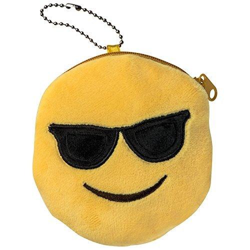 Emoti Emoticon Gafas de sol monedero de peluche
