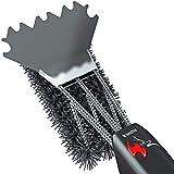 Kona Cepillo y raspador de nailon para parrilla, cerdas de cerámica, compatible con Traeger y todas las parrillas de pellet y ahumadores, limpiador de parrilla sin cerdas de metal