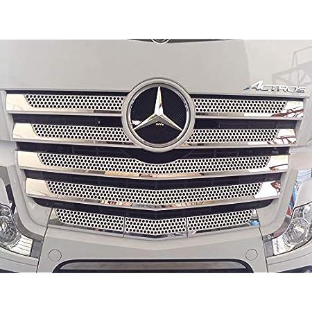 24 7auto Edelstahl Frontgrill Abdeckung Dekorationen Für Actros Mp4 Lkw Spiegel Poliert Zubehör Auto