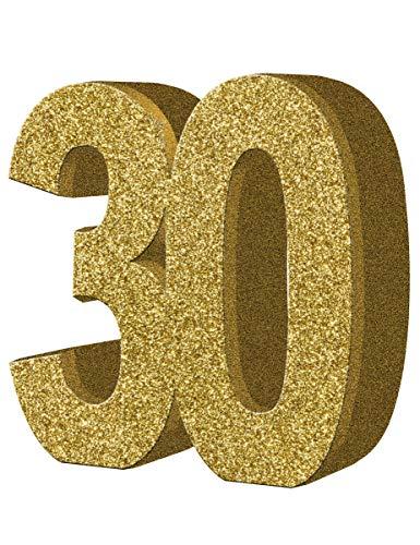 Generique - Décoration de Table 30 Ans dorée 20 x 20 cm