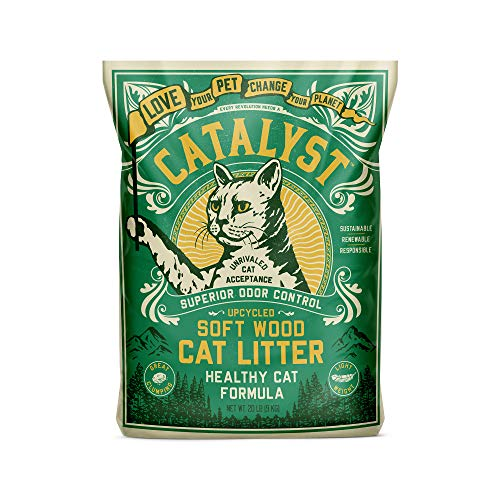 Catalyst Cat Litter, Healthy Cat Formula 20 Pound - Natural Cat Litter with Great Clumping, Superior Odor Control, Dust Free, Unrivaled Cat Acceptance, Lightweight
