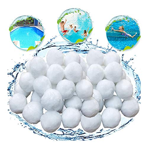 KATELUO Filter Balls 700g Filtermaterial für Poolpumpe,rsetzen 25 kg Filtersand für Pool Sandfilter
