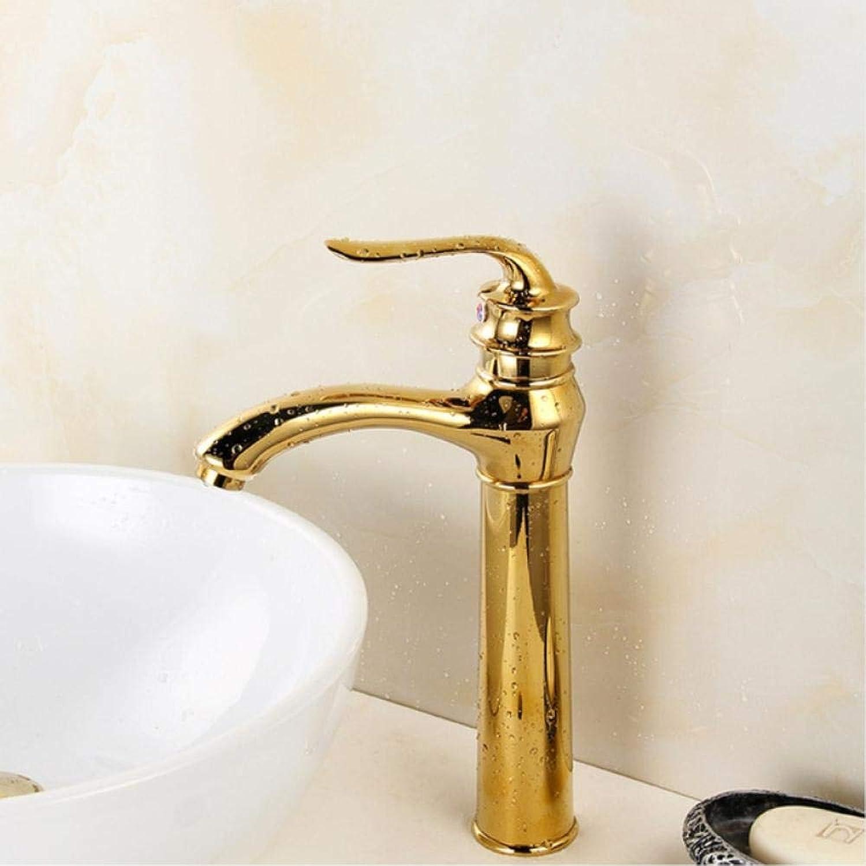 Wasserhahn Heier Verkauf Gute Qualitt Deck Montiert Einzigen Handgriff Gold Bad Becken Hot & Cold Mischbatterie Becken Wasserhahn