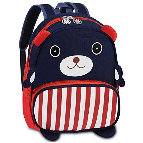 Kinderrucksack, Bioasis Anti verloren Kinder Rucksack Kindergartenrucksack Mini Schule Tasche für Baby Mädchen Kleinkinder (Blau)
