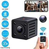 1080P Nanny Cams Wireless Spy Camera WiFi Hidden Camera with Audio Live Feed Tiny Home Security Camera Indoor Camera with Phone App Night Vision Motion Detection Remote View