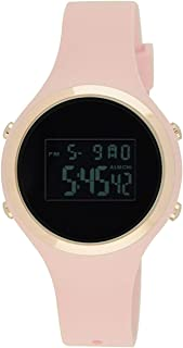 Moulin Ladies Pastel Color Digital Jelly Watch Dark Screen, Pink, Size No Size
