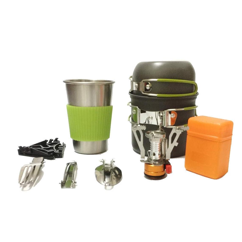 acction Portable Gas Camping Stove Butane Propane Burner Outdoor Hiking Picnic+ Cookware