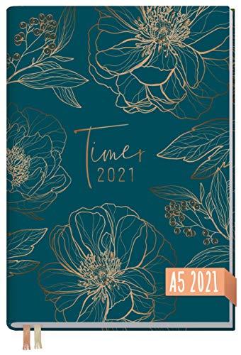 Preisvergleich Produktbild Chäff-Timer Classic A5 Kalender 2021 [Goldblüte] mit 1 Woche auf 2 Seiten / Terminplaner,  Wochenkalender,  Organizer,  Terminkalender mit Wochenplaner / nachhaltig & klimaneutral