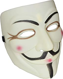 Cataixy Halloween Masks V for Vendetta, Anonymous Face Mask Guy Mask for 2019 Halloween Costume Party Yellow