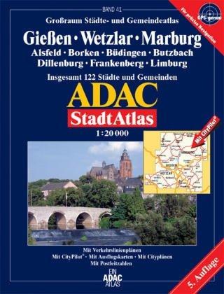 ADAC Stadtatlas Giessen, Wetzlar, Marburg