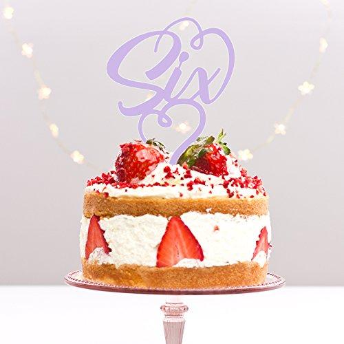 Directly Personlaised 6 Six sixième 6e Anniversaire de fête d'anniversaire Anniversaire de Mariage Acrylique gâteau