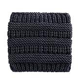 Dicomi Fascia per capelli della dea di colore singolo della banda selvaggia tricottata tricottata dei capelli per le ragazze delle donne Tinta Unita Famiglia All'Aperto Accessori