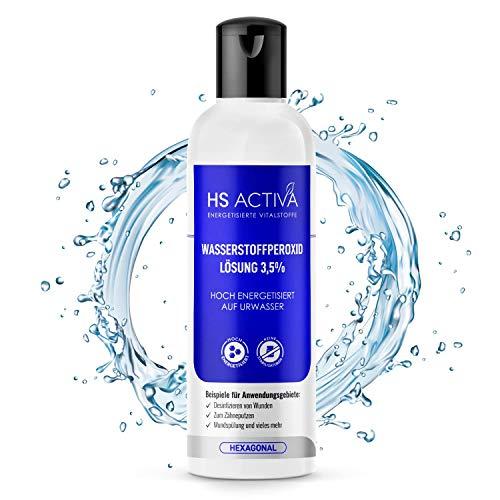 HS Activa® Wasserstoffperoxid 3,5% - [250 ml WPO Flasche] - Perfekt zum Desinfizieren - Ohne Stabilisatoren & Hoch energetisiert - H2O2 Lösung - Höchste Qualität