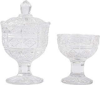 【赤澤朝陽】クリスタル仏茶器「ボヘミアン」セット 仏具 お水入れ ご飯入れ