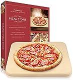 Pietra per pizza, resistente per pizza, in ceramica, per forno, barbecue e griglia, resistente agli urti termici, 30 x 30 cm