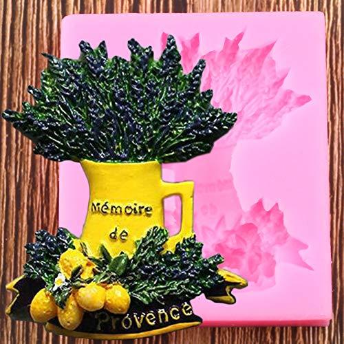 YCEOT Moldes de Silicona de Lavanda Limones Molde de Fondant de Frutas Herramientas de decoración de Pasteles de Boda DIYMoldes de Pasta de Chocolate de Arcilla deCaramelo
