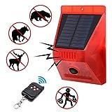 PIR Bewegungsmelder Alarm mit Fernbedienung IP65 Wasserdicht 4 Arbeitsmodi Für Garagen Gartenhaus Wohnmobil Blinklicht und Alarm