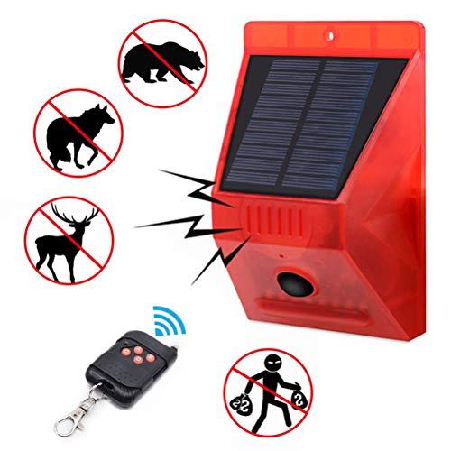 Halsey99 Insektenschutz, Sonnenalarmleuchte 4 Modi Garten-Solar Stroboskop LED Alarm Licht mit Bewegungsmelder