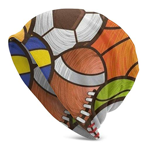 AEMAPE Fútbol Fútbol Baloncesto Gorro de Punto para Hombres Adultos - Beanie Hat Sombreros Unisex, Gorra de Calavera, pasamontañas, Medio pasamontañas