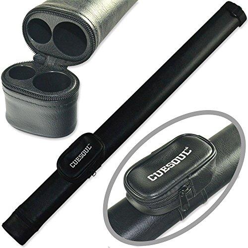 Cuesoul Billardqueue-Tasche für Billardqueues, zweifarbig, 1 Butt x 1 Schaft, Schwarz