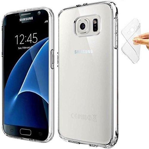 COPHONE® Funda para Samsung Galaxy S7 Funda Silicona Transparente de Silicona Antideslizante. Transparente Carcasa Galaxy S7 Fino y Discreto. Alta protección