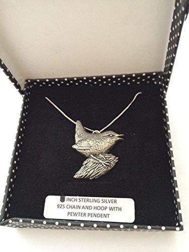 B6 Wren - Collar de plata de ley 925 hecho a mano con cadena de 45,7 cm con prideindetails caja de regalo