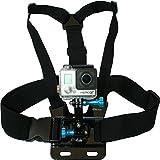 Arnés con montura para cámaras GoPro de Nordic Flash, correa ajustable, base con ajuste en tres direcciones y palometas de aluminio, compatible con todos los modelos de Go Pro Hero, Hero4, Hero3+ Black Edition, Hero3, Hero2, Hero1, HD & Sj4000, etc., marca de accesorios premium