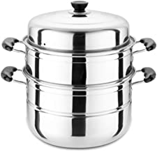 HJRD Large Steamer, Stainless Steel, Two-layer, Three-layer, Thick Steamer, Steaming Grid, Soup Pot, Double-layer, Commerc...
