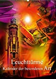 Leuchttürme Kalender der besonderen  Art (Wandkalender 2017 DIN A2 hoch): Lassen Sie sich vom Leuchten dieser Leuchttürme-Bilder verzaubern. (Monatskalender, 14 Seiten ) (CALVENDO Kunst)