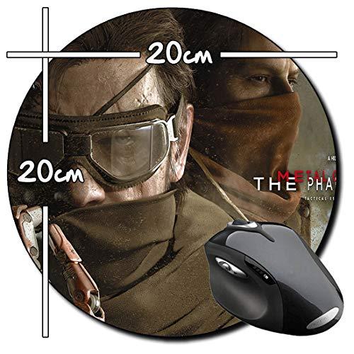 Metal Gear Solid V The Phantom Pain Alfombrilla Redonda Round Mousepad PC