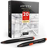 Arteza HB Mechanical Pencil Pack of 20, 0.7 Millimeter Medium Point Lead and Replaceable Eraser, Latex-Free Grip, Office Supplies