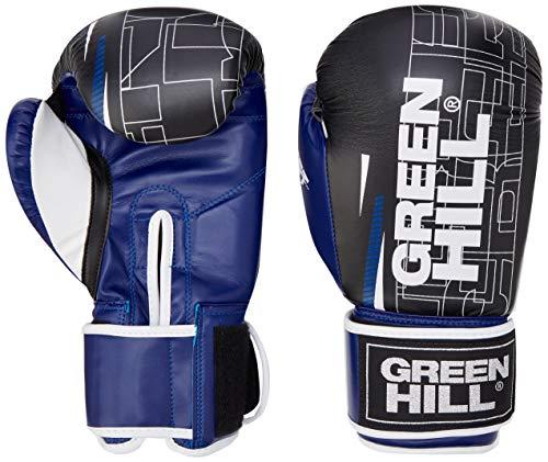 GREEN HILL Comet, Guantes de Boxeo Unisex Adulto, Unisex Adulto, BGC-2270, Negro/Blanco/Azul,...