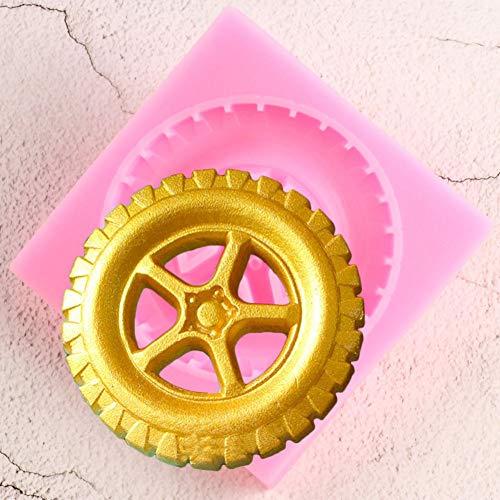 JLZK Molde De Silicona para Neumáticos Molde para Fondant Herramientas De Decoración De Pasteles Moldes para Pasta De Goma Y Chocolate Accesorios para Hornear