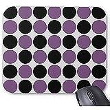 Smity Mouse Pad 30 * 25 * 0.3 cm Alfombrilla para ratón Alfombrillas de ratón diseñadas a la Moda Lunares Retro en Lavanda y Alfombrilla para ratón Negra