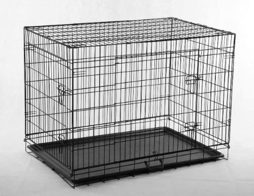 BestPet Black 36' Pet Folding Dog Cat Crate Cage Kennel w/ABS Tray LC