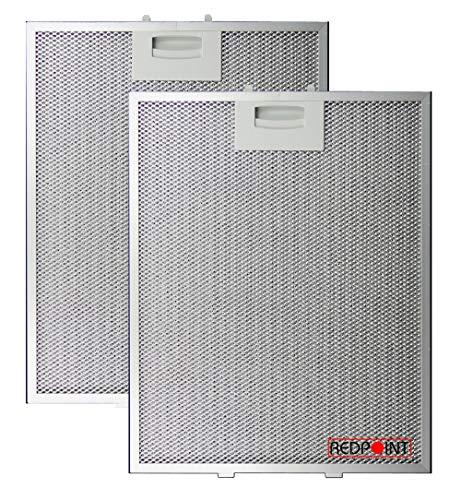 Kit de 2 filtros de aluminio para campanas Bosch 250 x 311 x 8 mm
