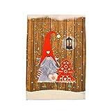 JWDYA Weihnachtsdekoration for Hausgarten Santa Claus Hängende Flagge Weihnachten Ornament glücklich (Color : F, Size : 48 * 34cm)
