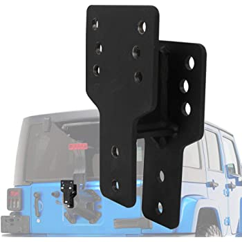 NovelBee Spare Tire Relocation Mounting Bracket Fit for 2007-2018 Jeep Wrangler JK