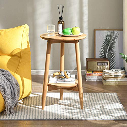 ZCPDP Sofa Side Table Pure Solid Wood Small Round Table Small Coffee Table Mini Simple Side Table Home Creative Corner Small Table Corner Table