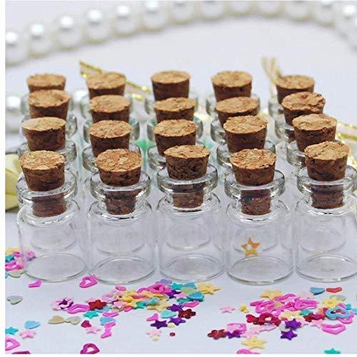Aiyrchin Mini Botellas de Cristal con el Corcho Botellas Tapones Wish de favores Artes Decoración del Partido Crafts (50pcs)