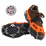 Vinqliq 19 Teeth Claws Micro Spikes Footwear Ice Traction System Crampons Non-Slip Shoes Cover for Walking,...